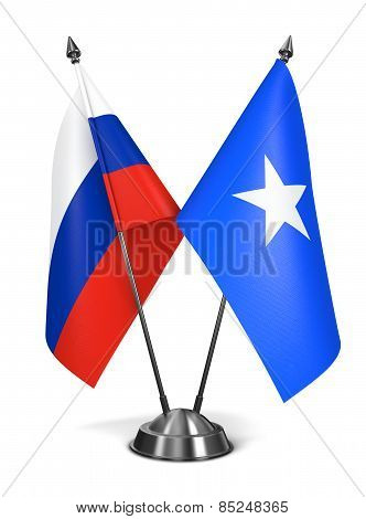 Russia and Somalia - Miniature Flags.