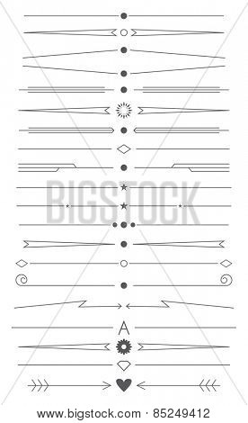set of simple design elements and page decor