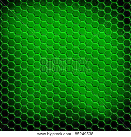 green cellular metal background