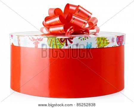 Colorful gift container, isolated on white background
