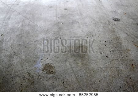 Closeup of textured concrete floor