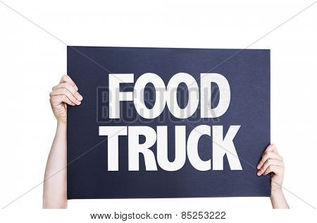 Food Truck card isolated on white background