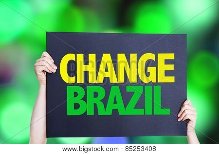 Change Brazil card with bokeh background