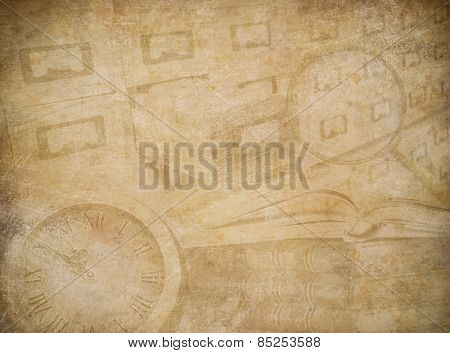 Archive or museum worn paper background