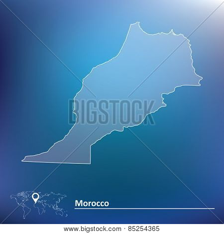 Map of Morocco - vector illustration