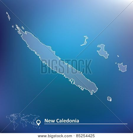 Map of New Caledonia - vector illustration
