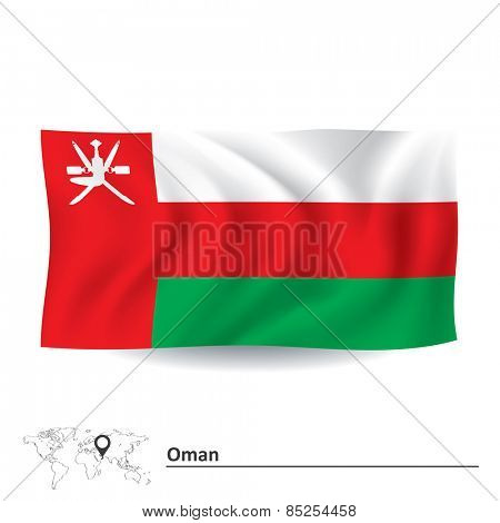 Flag of Oman - vector illustration