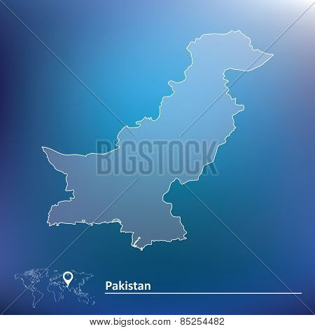 Map of Pakistan - vector illustration