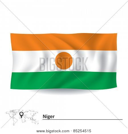 Flag of Niger - vector illustration