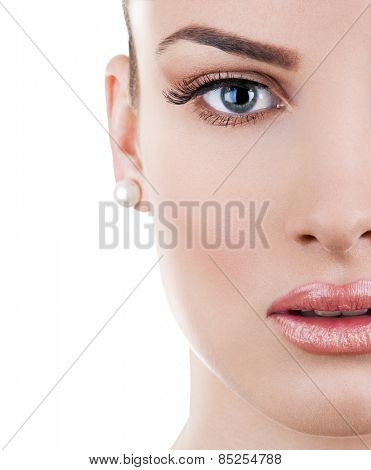 Perfect smooth skin young woman - cosmetic concept