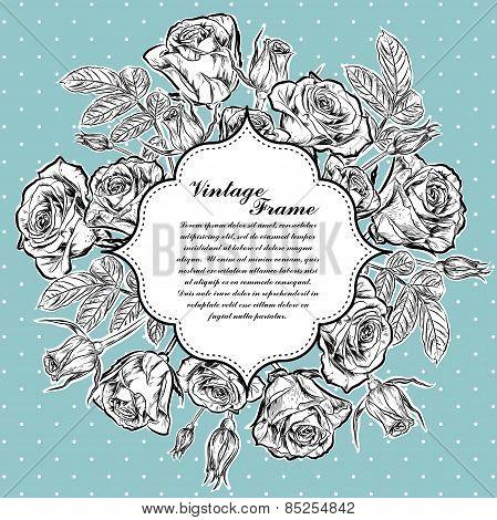 Rose Frame. vector illustration