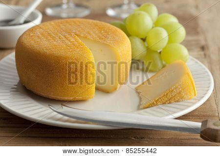 Port salut cheese for dessert