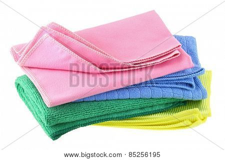 Different types of Micro Fiber cleaning cloth with static electricity that attracts dust