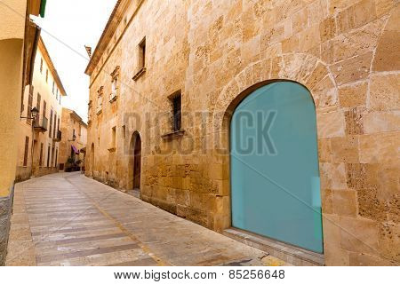 Alcudia Old Town in Majorca Mallorca Balearic island of Spain