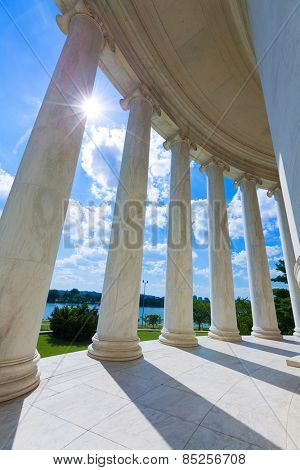 Thomas Jefferson memorial in Washington DC USA