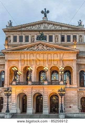 Alte Oper In Frankfurt. Night View.