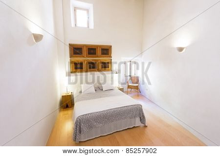 Majorca Balearic bedroom indoor house in Balearic islands Mediterranean architecture of Mallorca