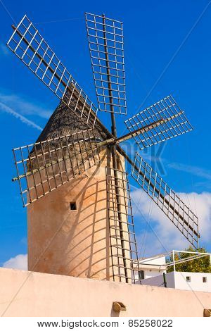 Palma de Majorca windmills wind mill in Mallorca Balearic islands Spain