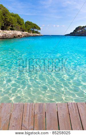 Majorca Cala Gran Beach in Cala Dor in Mallorca Santanyi at Balearic Islands of Spain