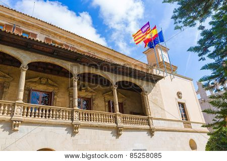 Mallorca Consulado de Mar beside Lonja in Palma of Majorca Balearic island at Spain