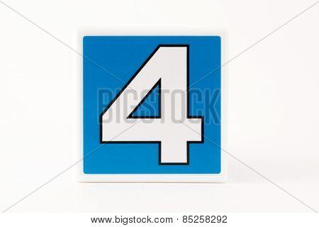 Number 4 Child's Building Block