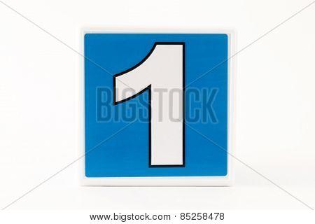 Number 1 Child's Building Block