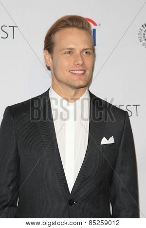 LOS ANGELES - MAR 12:  Sam Heughan at the PaleyFEST LA 2015 -