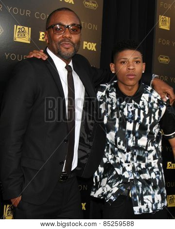 LOS ANGELES - MAR 12:  Lee Daniels, Bryshere Y. Gray at the