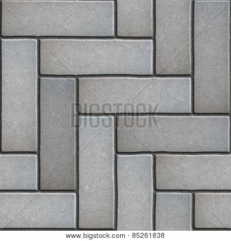 Gray Paving Slabs as Parquet.