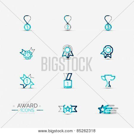 Set of Award icons, Logos. Modern business symbol, minimal outline design