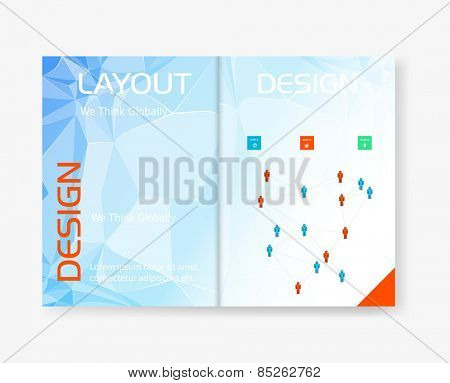 Abstract template brochure design, easy editable