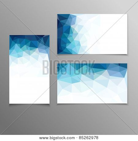 blue abstract business card templates