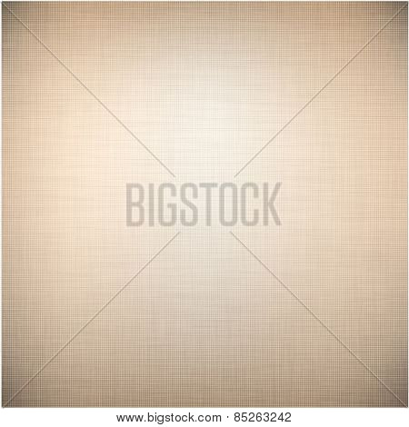 Realistic brown linen texture pattern. Vector eps10.