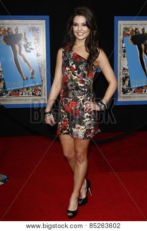LOS ANGELES - APR 21: Danielle Campbell at the premiere of Walt Disney Pictures' 'Prom' at the El Capitan in Los Angeles, California on April 21, 2011.