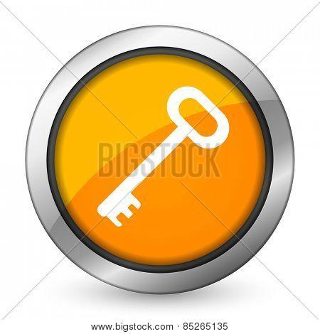 key orange icon secure symbol