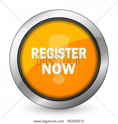 register now orange icon