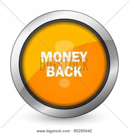 money back orange icon