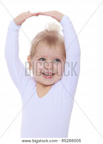 cheerful little ballerina