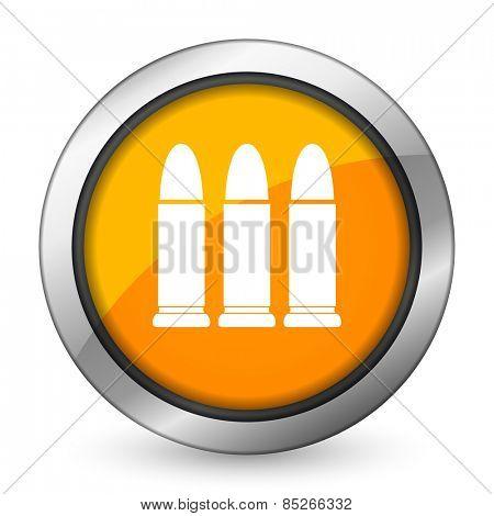 ammunition orange icon weapoon sign