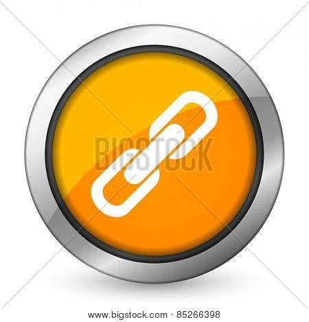 link orange icon chain sign