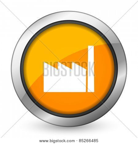 factory orange icon industry sign manufacture symbol