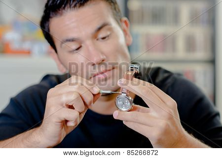 Watch repair man