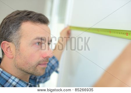 Using a tape measure
