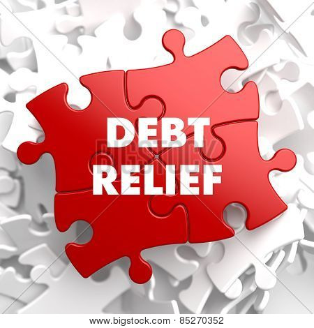 Debt Relief on Red Puzzle.