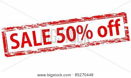 Sale Fifty Percent Off