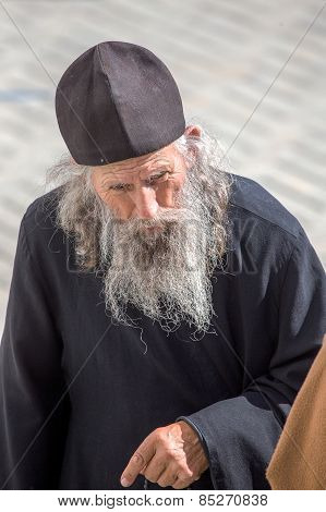 Odessa, Ukraine - September 29: Orthodox Monk During The Celebration Of 190 Years Of The Odessa Mona