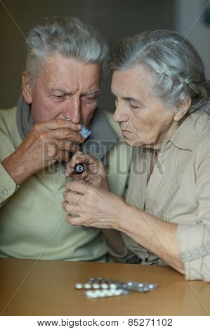 Elderly caucasian couple