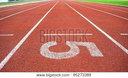 Athletics Stadium Running track number 5