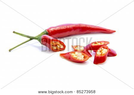 Red Chili Pepper Sliced Ingredient And Raw Material