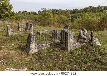 Odessa, Ukraine - November 4: Abandoned Old Graves At The Historic Jewish Cemetery In The 18Th Centu